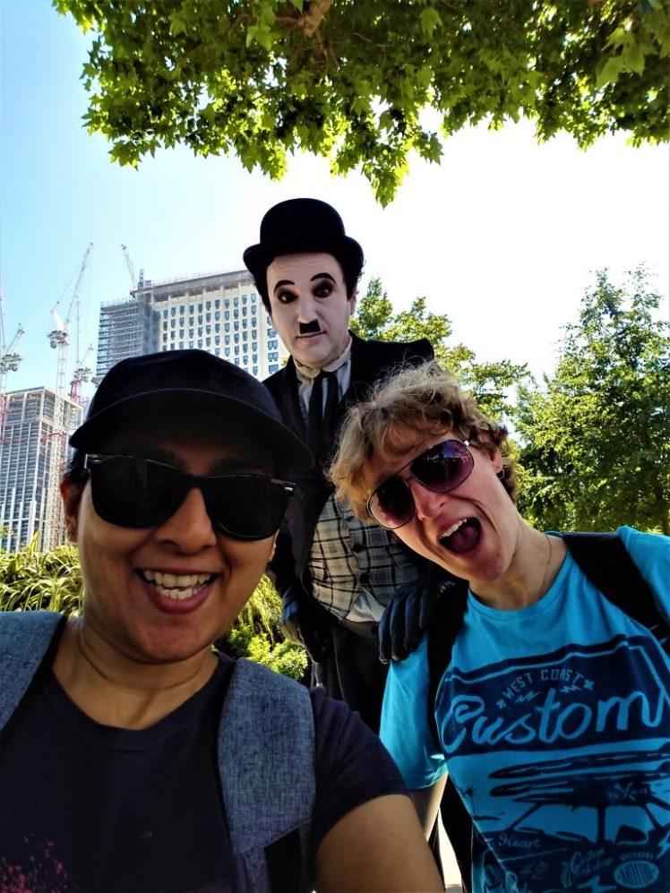 Bev & Shams Adventures with Charlie Chaplin in London