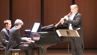 The Cortuna Duo perform at the Endicott College Rose Performance Hall