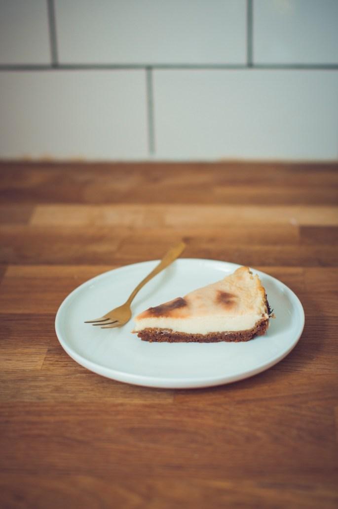 recette tarte végétalienne au fromage et au spéculoos