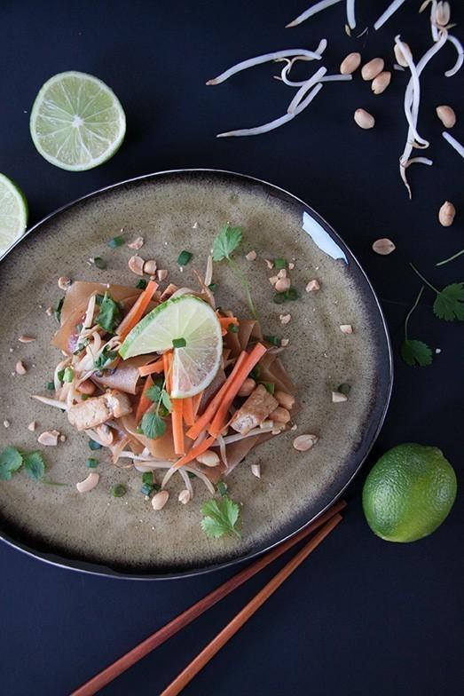 recette vegetalienne pad thai au tofu