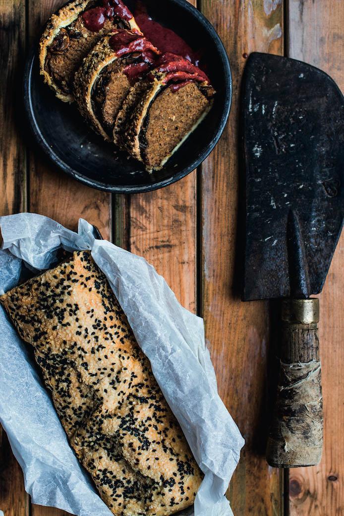 recept vegan seitan wellington met bladerdeeg