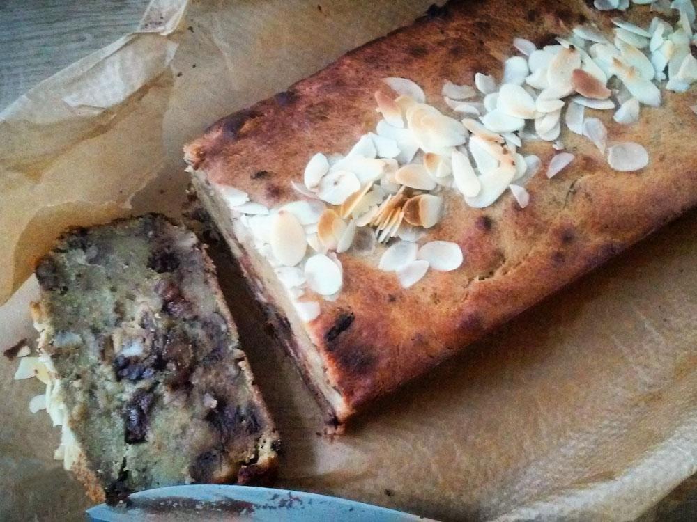 recept veganistisch bananenbrood met chocolade