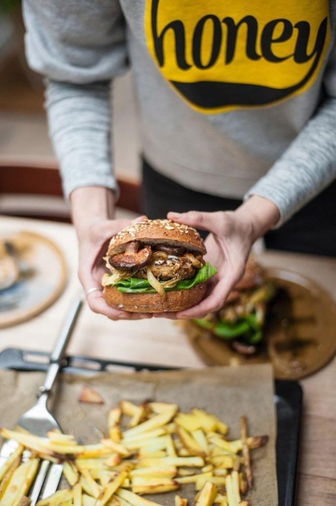 veganistisch recept hennepburgers met shiitake
