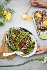 recette vegane salade de quinoa et de verdure à la crème aigre vegan