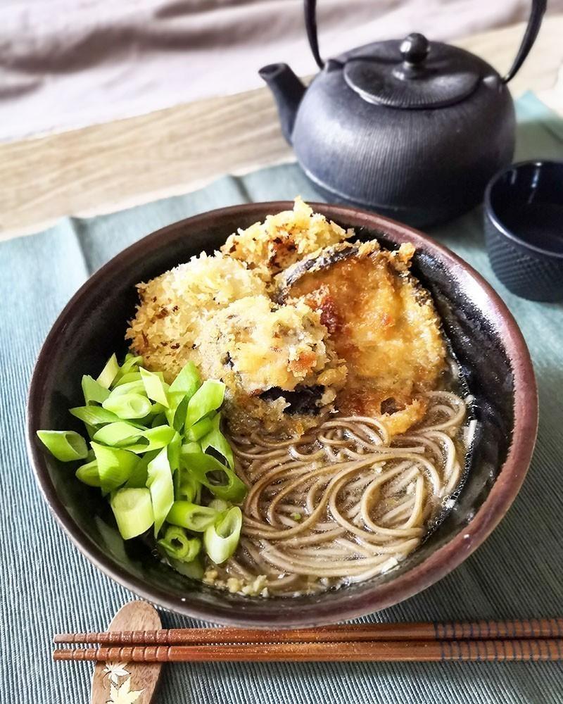 vegan recept ramen met groenten in tempurabeslag