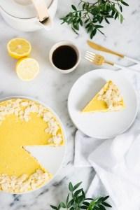 recette végane tarte au citron aux noix de cajou