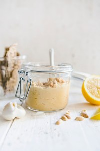 recept vegan hummus met pinda
