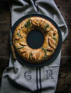 recette vegan fêtes couronne de noël