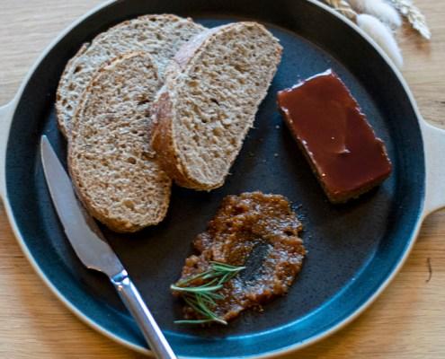 recept vegan champignonpaté met vijgen- en balsamicoconfituur