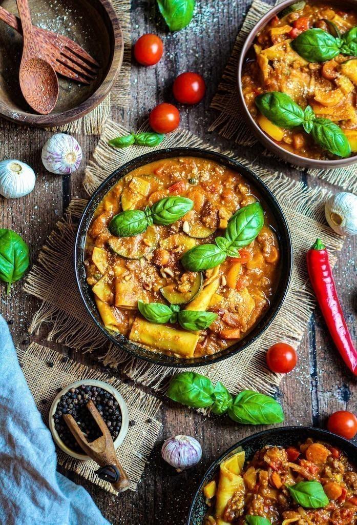 recette vegan soupe de lasagne à la citrouille