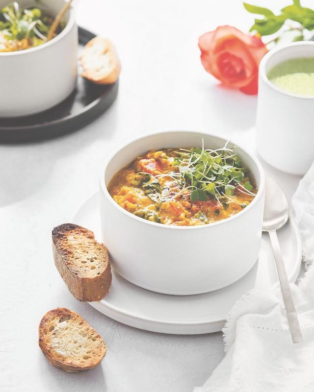 recept veganistische soep met linzen