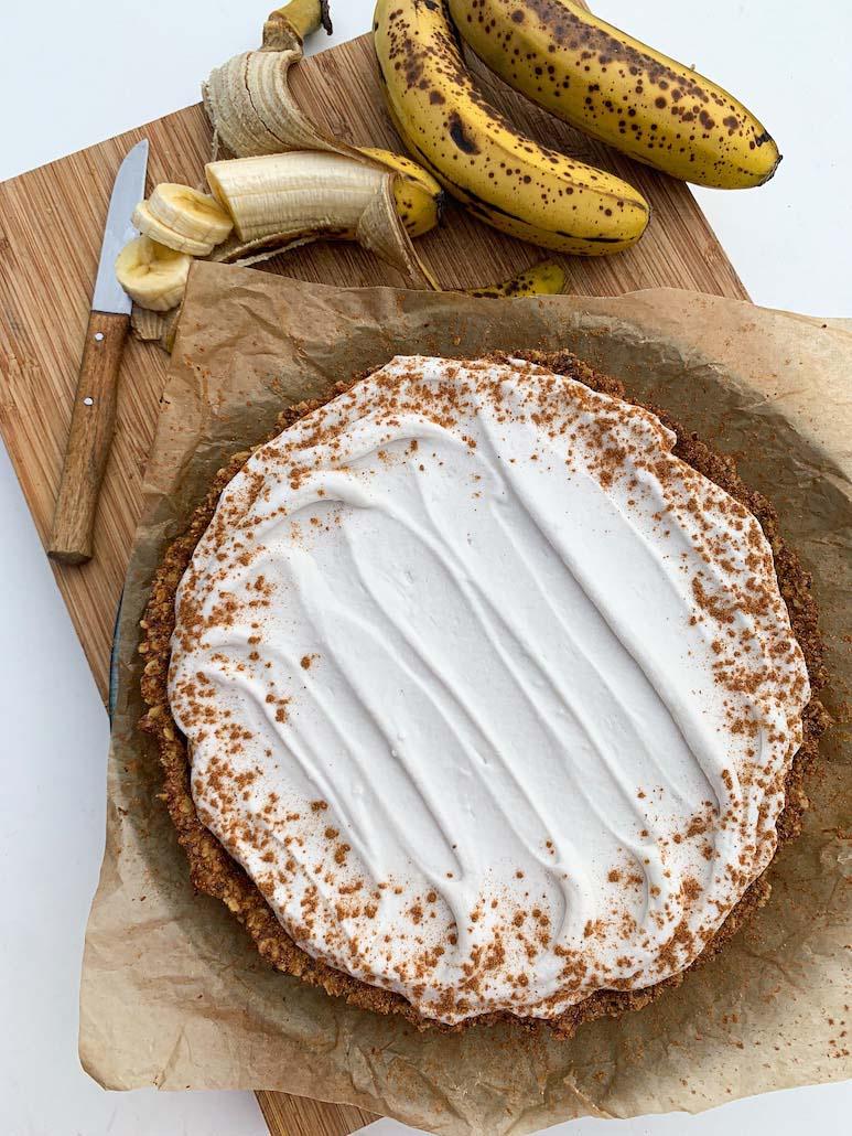 taart met vegan slagroom