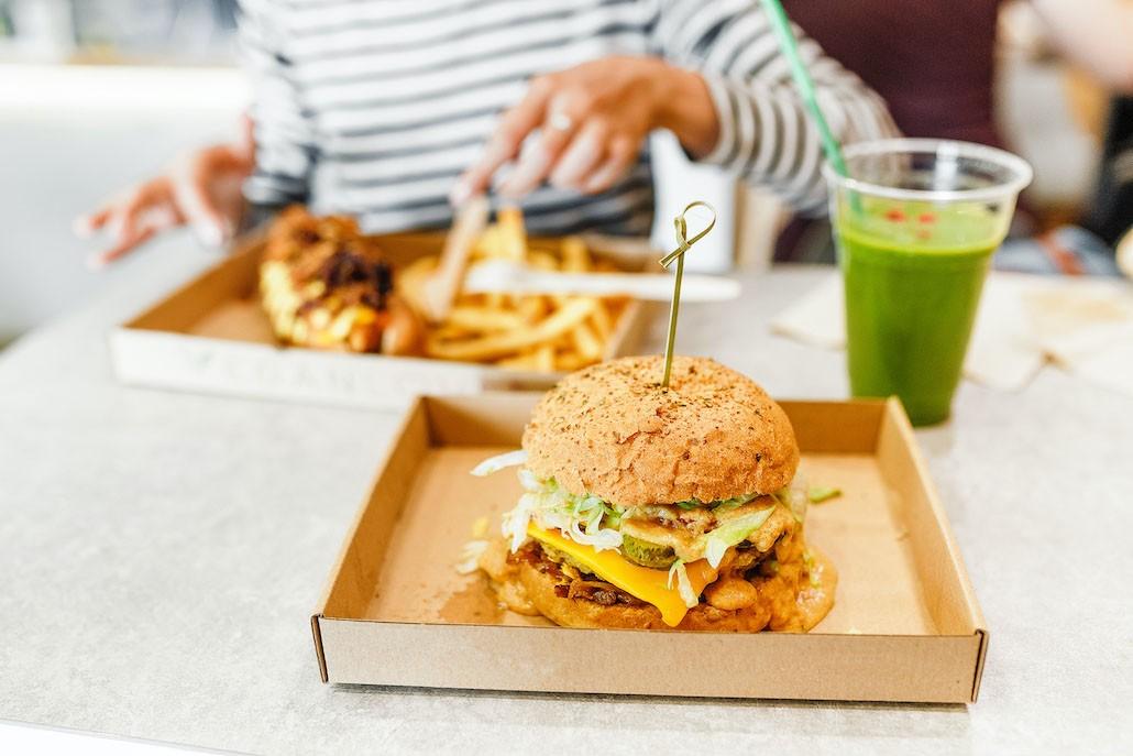 vegan hamburgerrestaurant