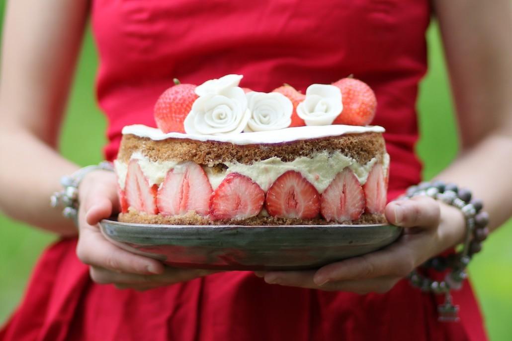recette fraisier végétalien
