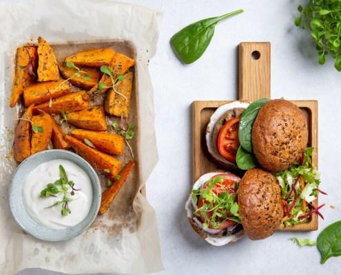 vegan hamburger in de supermarkt