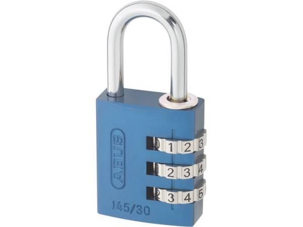 ABUS ABVS46614 Hangslot 31.5 mm Blauw Cijferslot