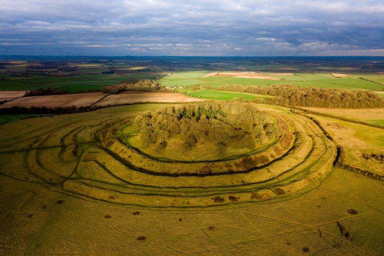 Badbury rings from above