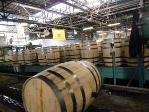 At the Brown-Forman cooperage, more than 600,000 barrels a year are raised for the company's brands.
