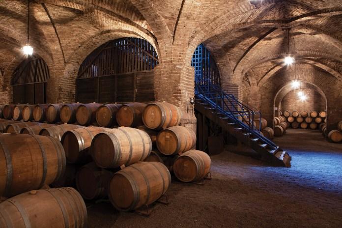 The historic wine cellars of Chile's Santa Carolina, established in 1875
