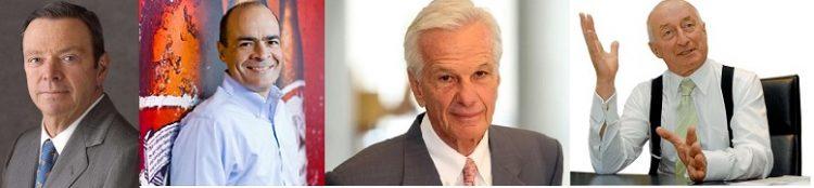 L-R August Busch III, CEO Anheuser-Busch; Carlos Brito, CEO AB InBev; Jorge Paulo Lemann, CEO 3G Capital and Graham Mackay, former CEO SABMiller