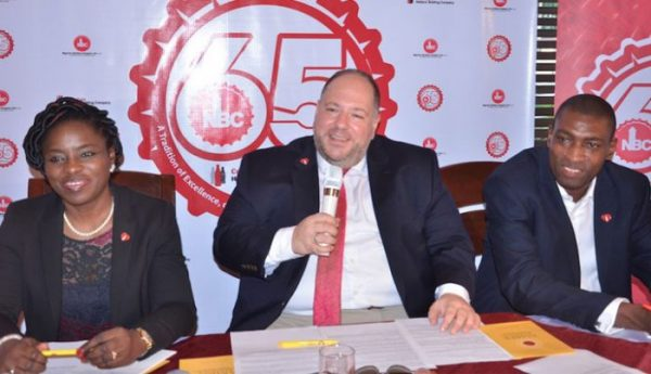 Managing Director, Nigerian Bottling Company, George Polymenakos, speaking at an event organised by the company to commemorate its 65th Year Anniversary in Nigeria