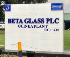 Beta Glass Guinea Plant, Agbara, Ogun State
