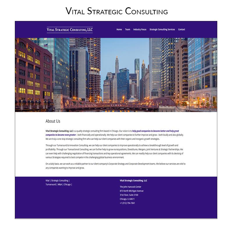 Vital Strategic Consultant-Web Design