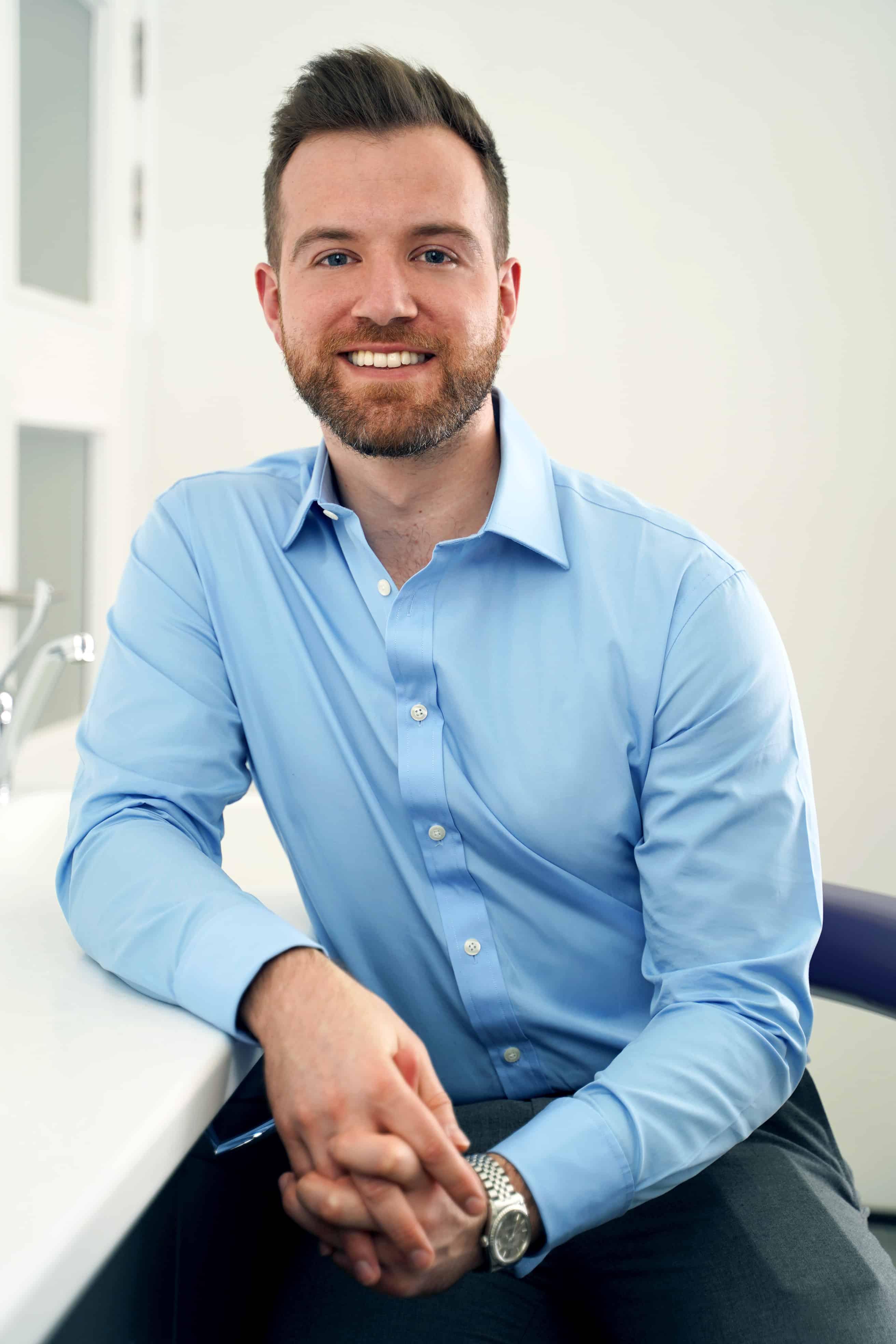 Headshot Of Dr Ben Walker Principle Dentist At Beverley Dental Raynes Park London