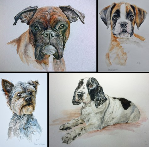 Dog Paintings Montage