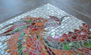 Red Dragon Mosaic