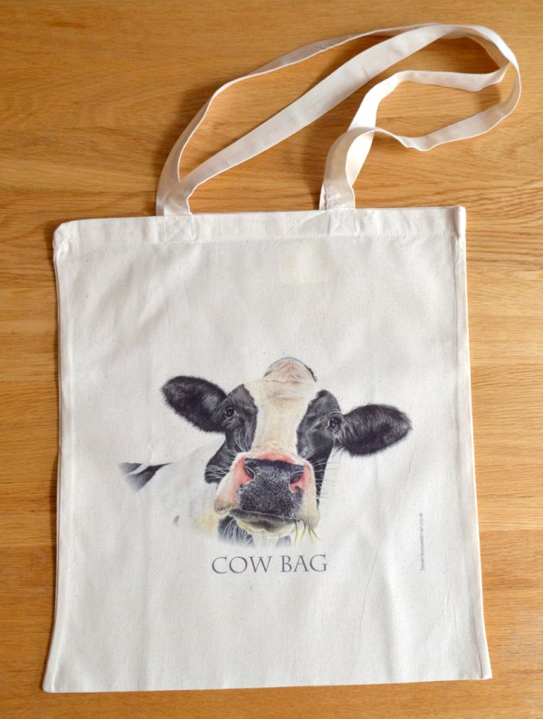 cow bag cotton tote bag