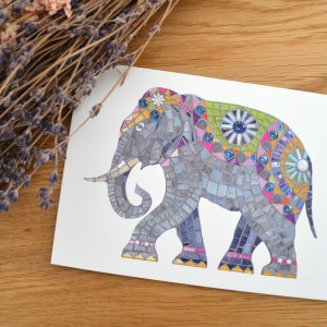 elephant-mosaic-card