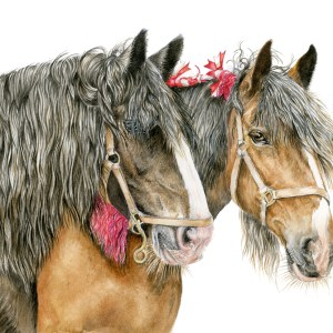 Heavy horse watercolour painting limited edition print