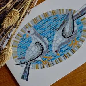 Dove mosaic greetings card