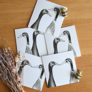 Runner duck greeting card set
