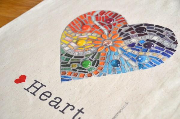 Rainbow heart bag 5