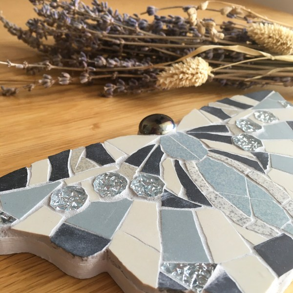 Butterfly Mosaic made from ceramic tiles