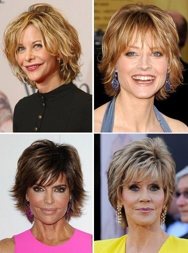 Стрижки на короткие волосы для женщин 50 лет фото