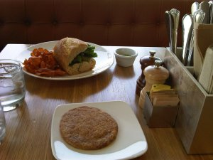 The Larder's Marcia sandwich and snickerdoodle cookie