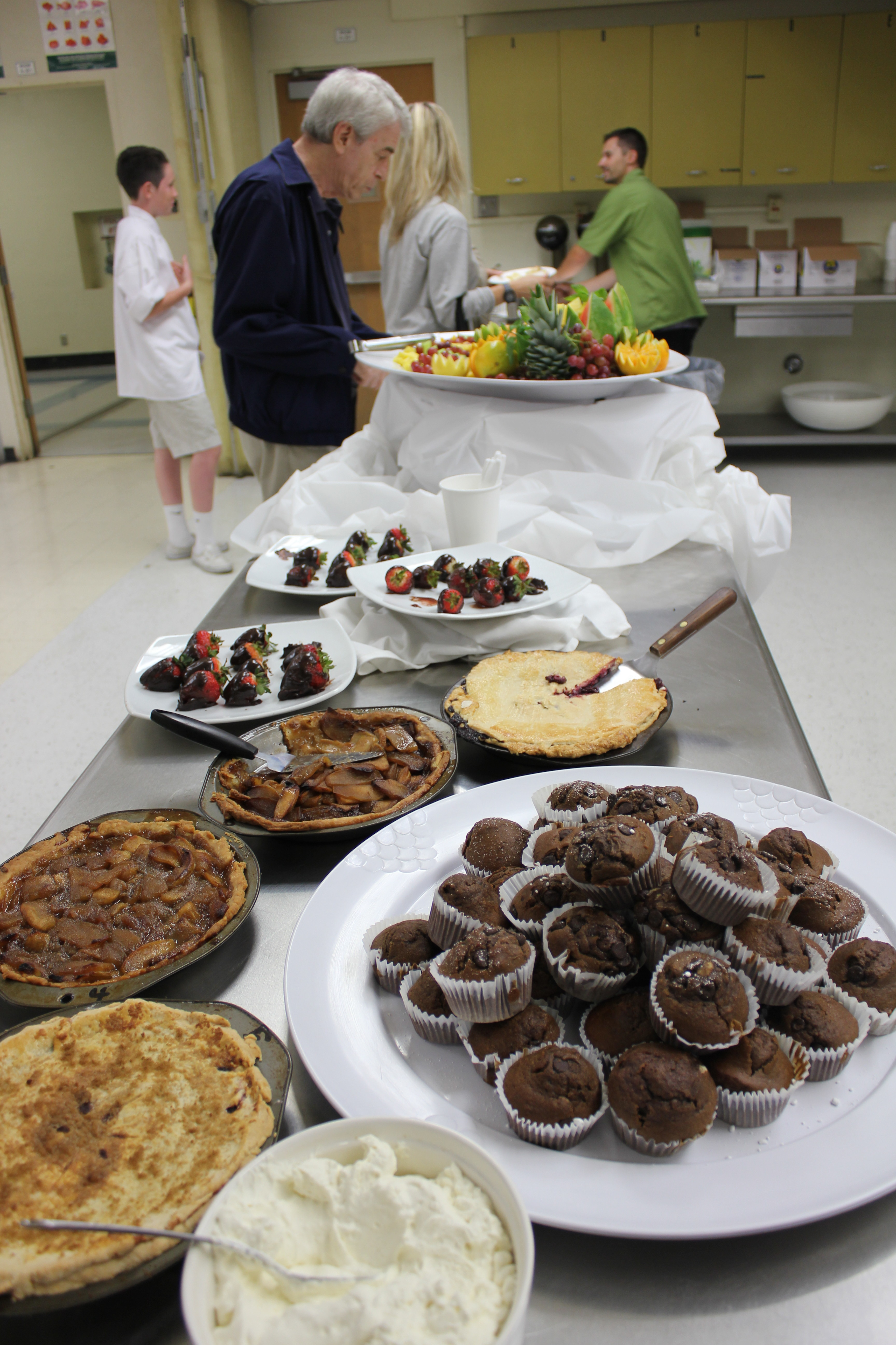 Cooking class welcomes parents with delicious treats made by students.