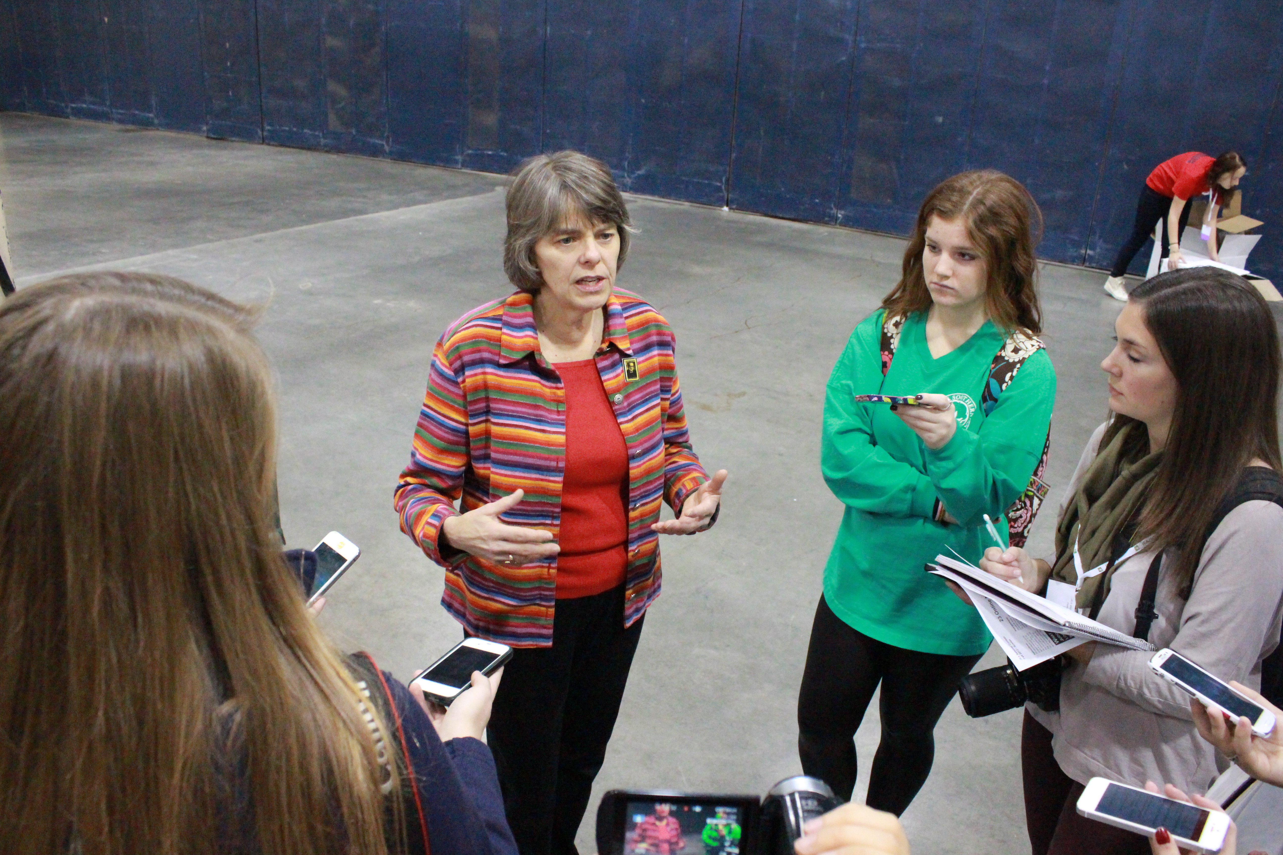 Mary Beth Tinker speaks to student journalists at the 2013 JEA/NSPA Conference in Boston, Mass.