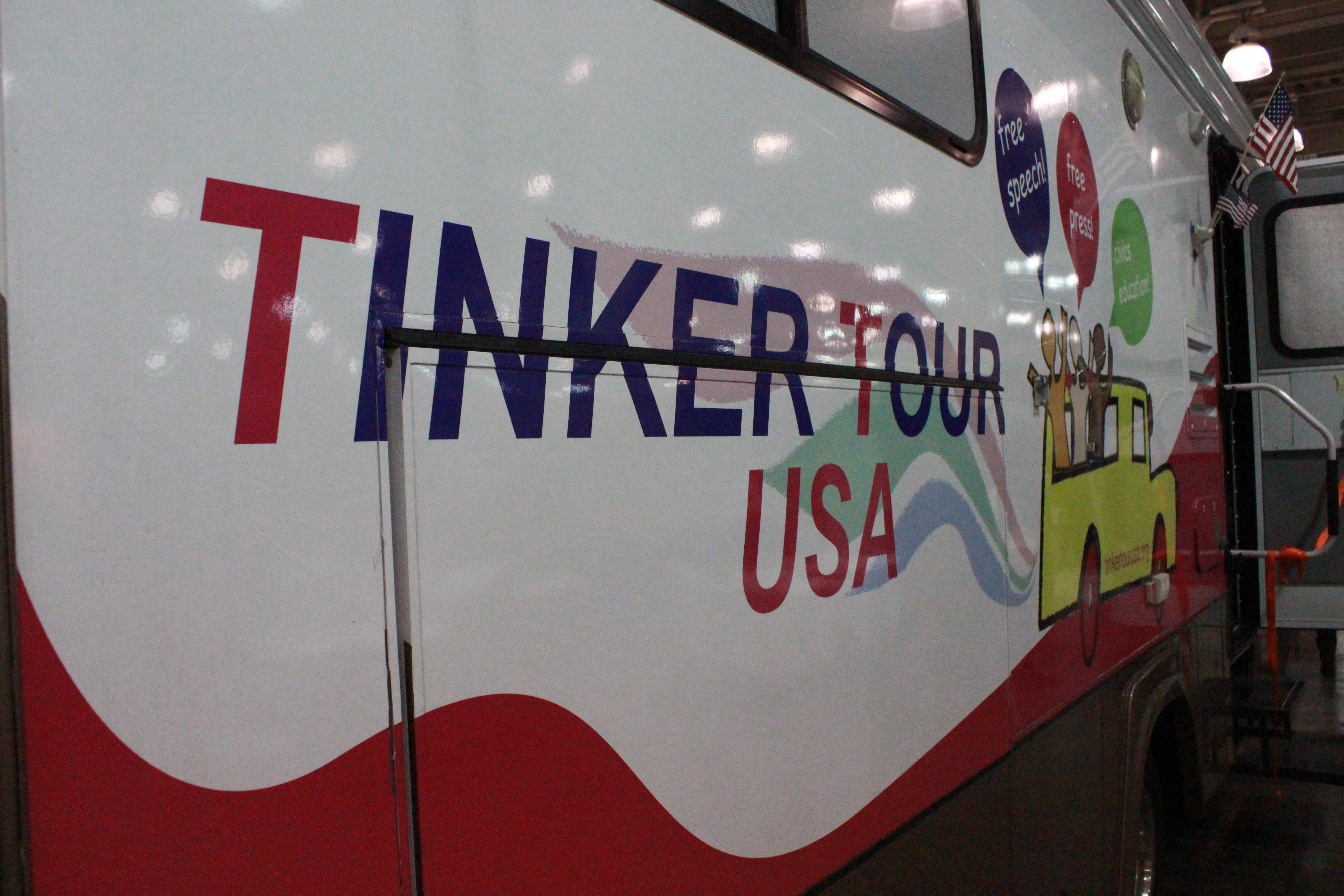 The Tinker Tour USA brought their personalized tour bus to the 2013 JEA/NSPA Convention.