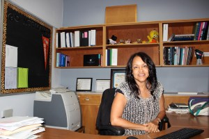 Assistant Principal Renne Cobb, works from her desk at House A