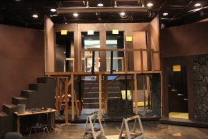 Theatre department begins to build their rotating stage for their upcoming production, 'Noises Off'