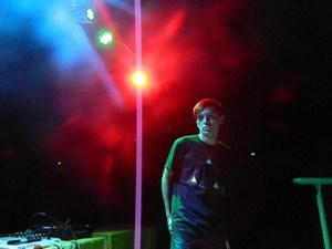 Cole Plante before his set at homecoming 2013.  Photo courtesy of David Dolgin