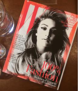 Gigi Hadid's W magazine cover for September 2015. Photo by: JULIETTE DEUTSCH