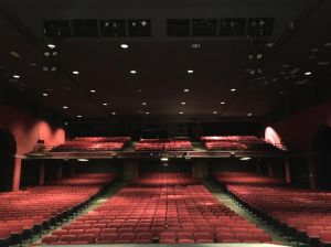 Students and staff are only allowed to be on the stage area of the auditorium. Safety regulations prevent use of the seats.