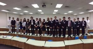 The judges of the MUN conference pose for a group photo.