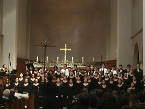 Madrigals singing during their performance at All Saints Episcopal Church.  Photo by Priscilla Hopper.