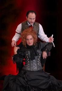 "Chandler plays Mrs. Lovett in the play ""Sweeney Todd."" Photo courtesy of: KAREN CHANDLER."